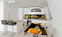 Наклейка 3Д виниловая на стол Zatarga «Желтые Каллы» 650х1200 мм для домов, квартир, столов, кофейн,, фото 1