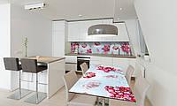 Наклейка 3Д виниловая на стол Zatarga «виниловый Морозная Калина» 650х1200 мм для домов, квартир, столов,, фото 1