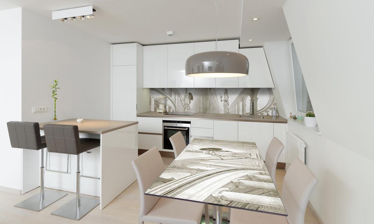 Наклейка 3Д виниловая на стол Zatarga «Античный зал» 650х1200 мм для домов, квартир, столов, кофейн,
