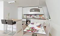 Наклейка 3Д виниловая на стол Zatarga «самоклеющийся Цветочные букеты» 600х1200 мм для домов, квартир, столов,, фото 1