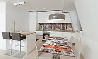 Наклейка 3Д виниловая на стол Zatarga «самоклеющийся Кирпичные стены Города» 600х1200 мм для домов, квартир,, фото 1