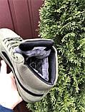 Мужские замшевые зимние кроссовки на меху PUMA Suede темно-зеленые, фото 3