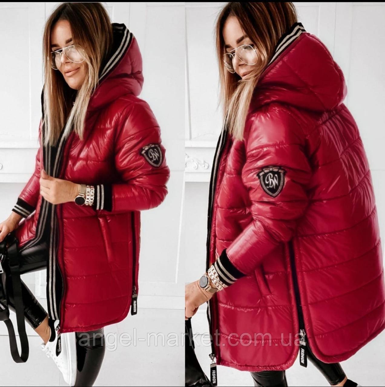 Стильная зимняя женская куртка-пальто норма и батал синтепон 300 новинка 2020