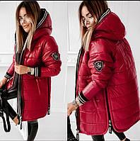 Стильная зимняя женская куртка-пальто норма и батал синтепон 300 новинка 2020, фото 1
