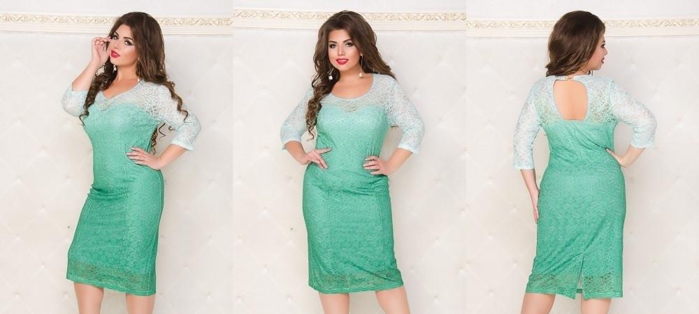 Платье №250 (зеленый) Размеры 50,52,54,56,58