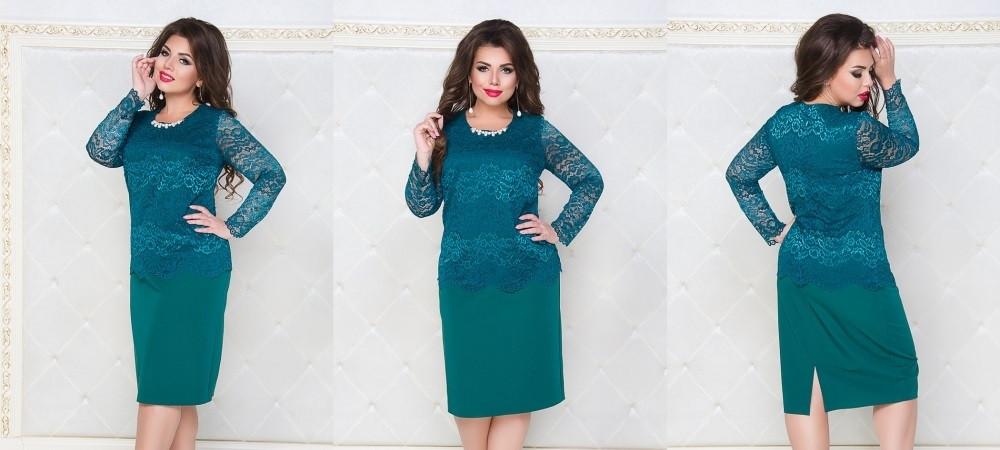 Платье №251 (зеленый) Размеры 52,54,56,58,60