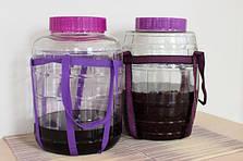 Бутыль стеклянный для вина с гидрозатвором 25л, фото 2