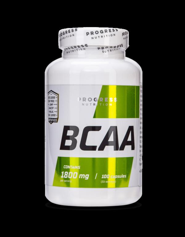 Аминоксилоты Progress Nutrition BCAA 100caps.