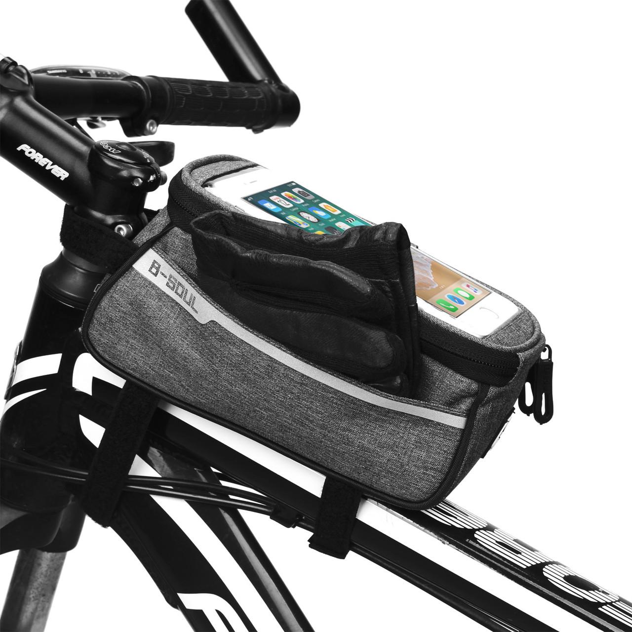 Нарамна велосумка під смартфон B-Soul 21*9*10,5 см