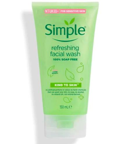 Средство для умывания Simple Kind To Skin, 150 мл