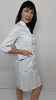 Женский медицинский халат Тая коттон три четверти рукав, фото 1