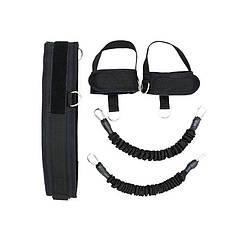 Еспандер для силових вправ Dobetters DBT-L01 Black накачування ніг і сідниць