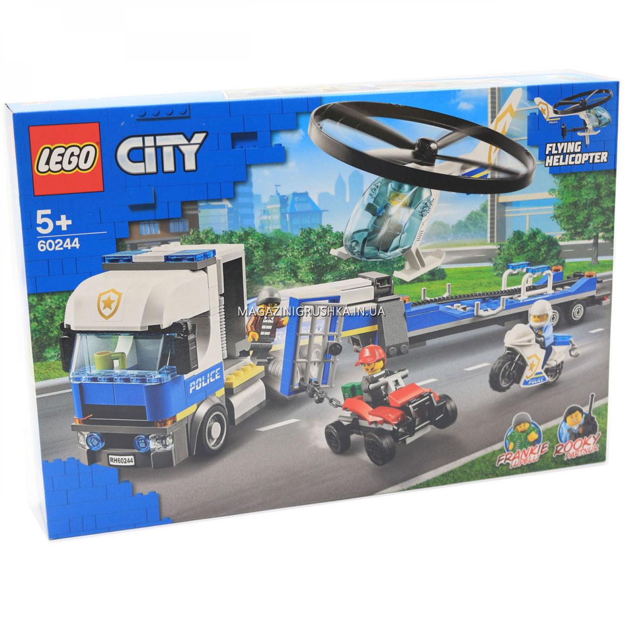 Конструктор LEGO City Police (Лего) Полицейский вертолётный транспорт, 317 деталей (60244)