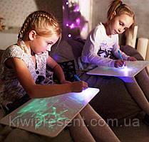 Рисуй светом A3 - Большой планшет для рисования в темноте / доска для рисования светом для детей, фото 2