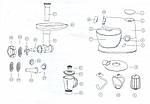 Кухонный комбайн 3в1  планетарный Royalty Line RL-PKM-1900.7BG RED 1900 Вт, фото 5