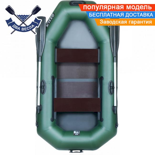 Човен надувний човен ЛТ-240А-ЄС з слань-килимком і зсувним сидінням двомісна