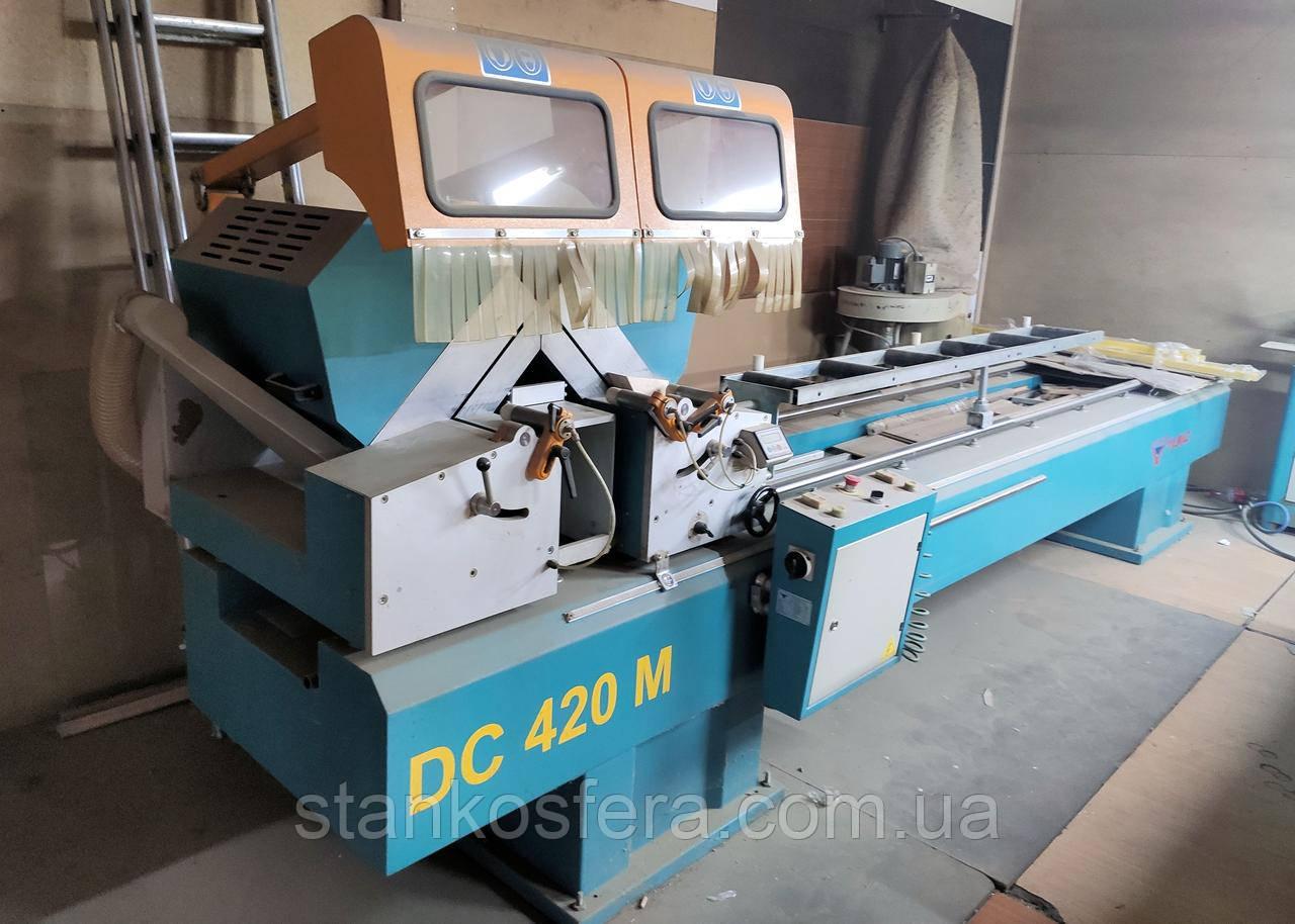 Yilmaz DC420M пила двухголовочная б/у для алюминиевых и ПВХ-профилей