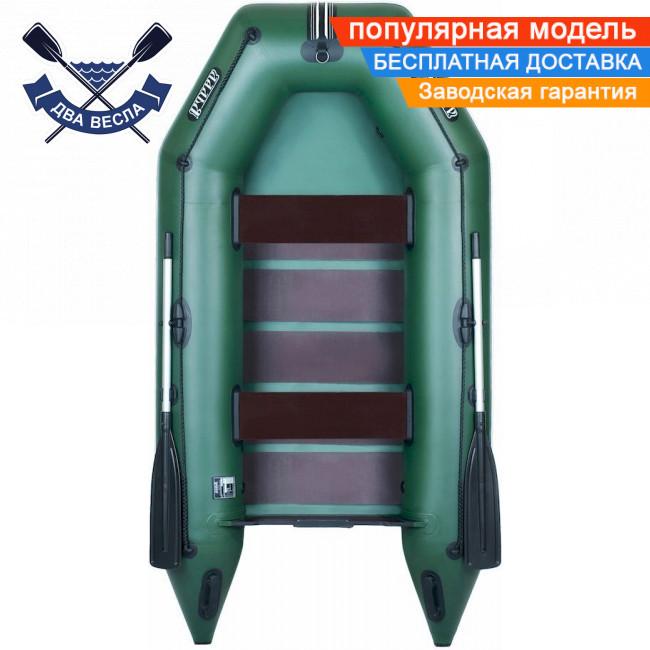 Моторная лодка Ладья ЛТ-270М со слань-ковриком двухместная с доп. кольцом для якоря