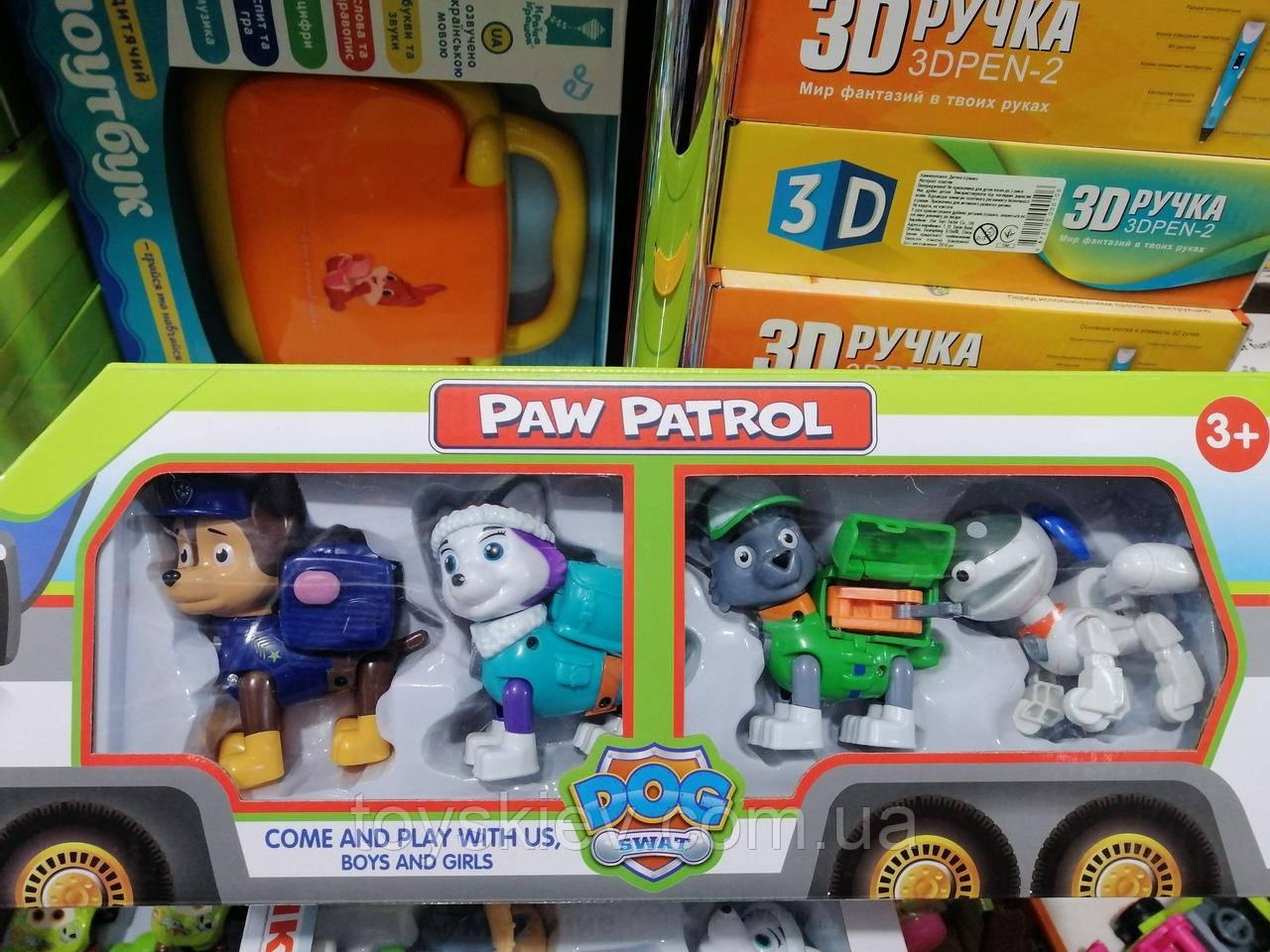Paw Patrol Щенячий патруль 4 персонажа с Эверестом и Робопес