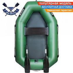 Надувная лодка Ладья ЛТ-190 с гребками одноместная, ПВХ 850