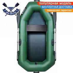Надувная лодка Ладья ЛТ-220Е со сдвижным сиденьем полуторка одноместная, ПВХ 850