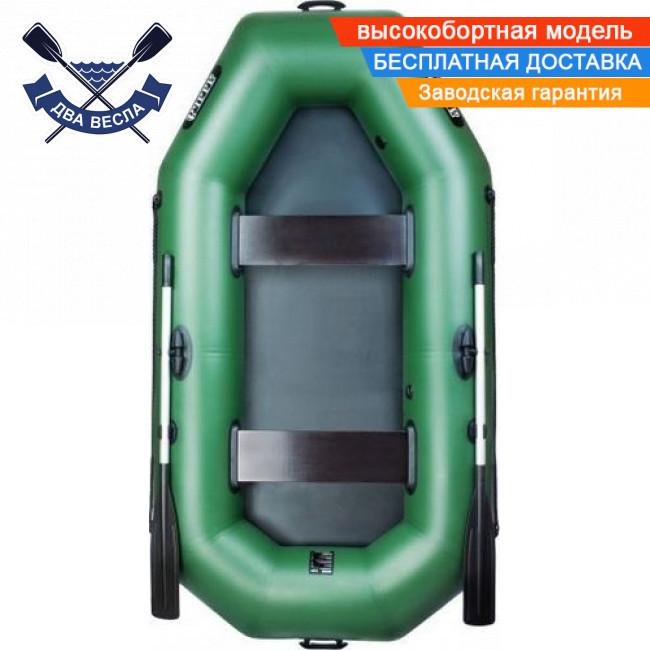 Надувная лодка Ладья ЛТ-240Б с брызгоотбойником и баллонами 37 двухместная