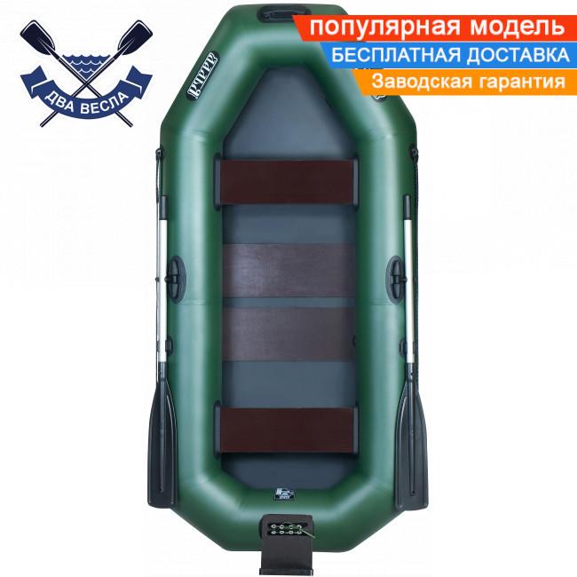 Човен надувний човен ЛТ-250А-СБТ з брызгоотбойником ТРАНЦЕМ і слань-килимком двомісна