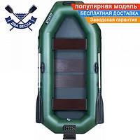 Надувная лодка Ладья ЛТ-250А-СТ со слань-ковриком и ТРАНЦЕМ двухместная