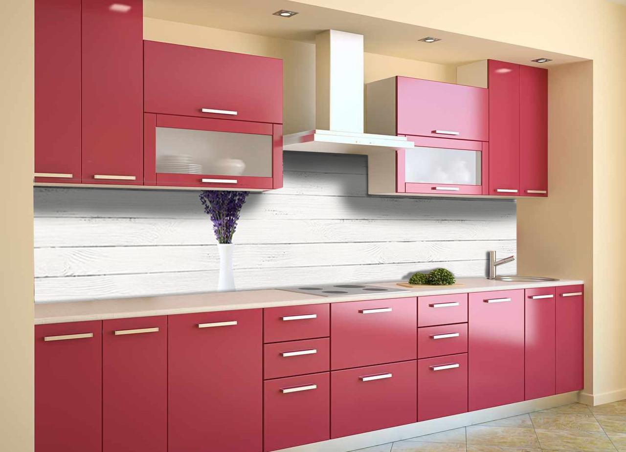 Скинали на кухню Zatarga «Лаванда в Вазе» 600х2500 мм виниловая 3Д наклейка кухонный фартук самоклеящаяся