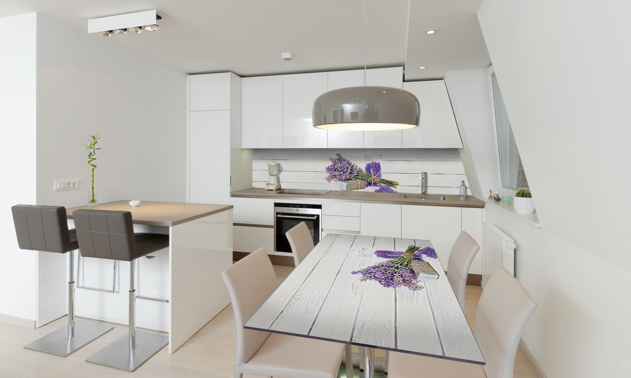 Наклейка 3Д виниловая на стол Zatarga «Лавандовая соль» 600х1200 мм для домов, квартир, столов, кофейн,