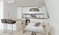 Наклейка 3Д виниловая на стол Zatarga «Лавандовая соль» 600х1200 мм для домов, квартир, столов, кофейн,, фото 1