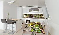 Наклейка 3Д виниловая на стол Zatarga «Зеленые Оливки» 600х1200 мм для домов, квартир, столов, кофейн,, фото 1