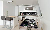 Наклейка 3Д виниловая на стол Zatarga «Пышные букеты» 600х1200 мм для домов, квартир, столов, кофейн,, фото 1
