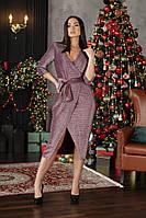 Вечернее женское платье на запах, фото 1
