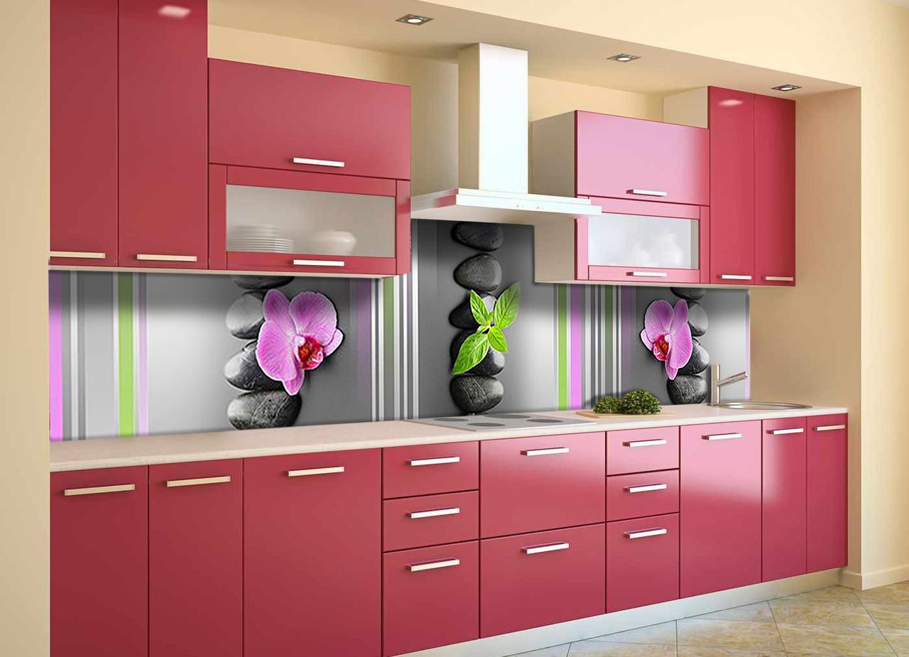 Скинали на кухню Zatarga «Линии» 600х2500 мм виниловая 3Д наклейка кухонный фартук самоклеящаяся