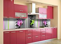 Скинали на кухню Zatarga «Линии» 600х2500 мм виниловая 3Д наклейка кухонный фартук самоклеящаяся, фото 1