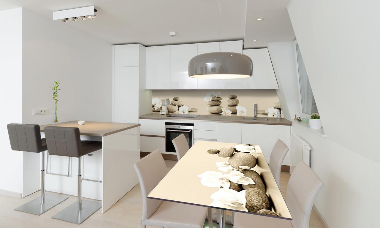 Наклейка 3Д виниловая на стол Zatarga «Пирамида Камни» 650х1200 мм для домов, квартир, столов, кофейн,