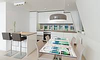 Наклейка 3Д виниловая на стол Zatarga «Окно в Средиземье» 650х1200 мм для домов, квартир, столов, , фото 1