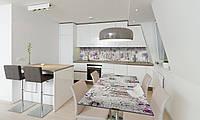 Наклейка 3Д виниловая на стол Zatarga «Весенний Прованс» 600х1200 мм для домов, квартир, столов, , фото 1