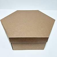 Упаковка большая картонная с крышкой 300х360х100 мм., фото 1