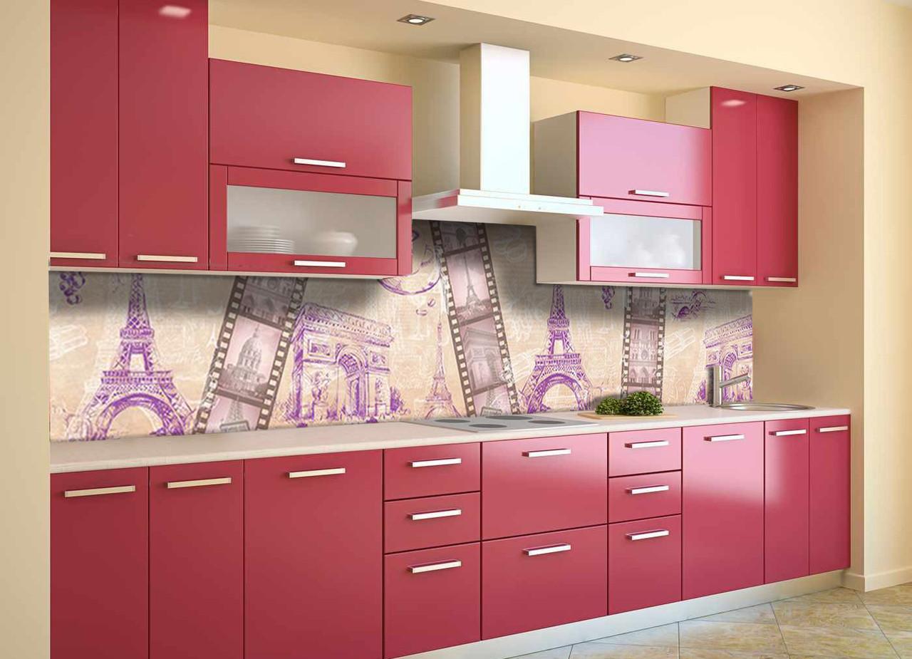 Скинали на кухню Zatarga «Романтическая Европа» 600х3000 мм виниловая 3Д наклейка кухонный фартук