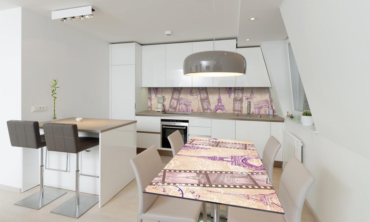 Наклейка 3Д виниловая на стол Zatarga «Романтическая Европа» 650х1200 мм для домов, квартир, столов,