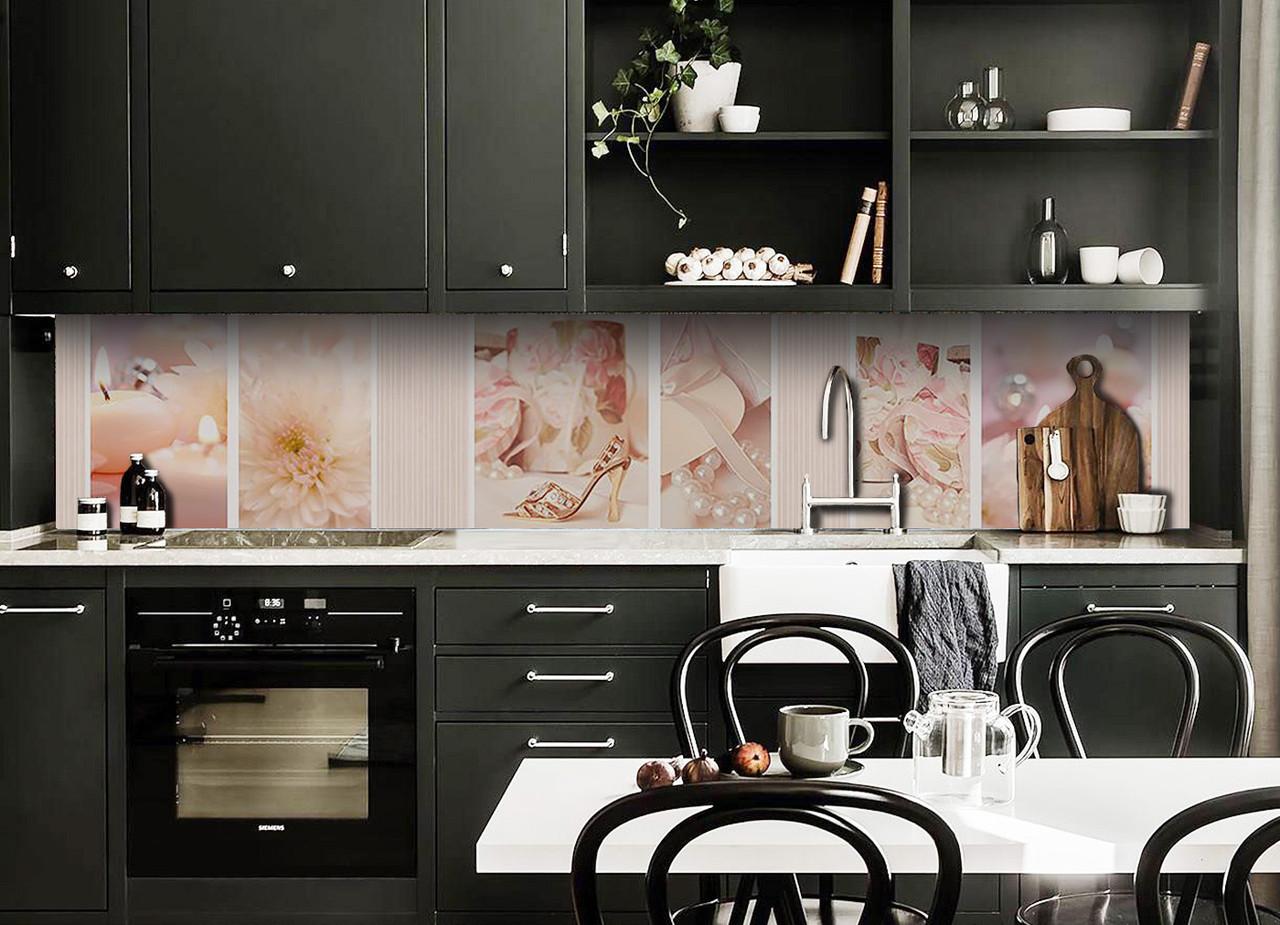 Скинали на кухню Zatarga «Золушка» 600х3000 мм виниловая 3Д наклейка кухонный фартук самоклеящаяся