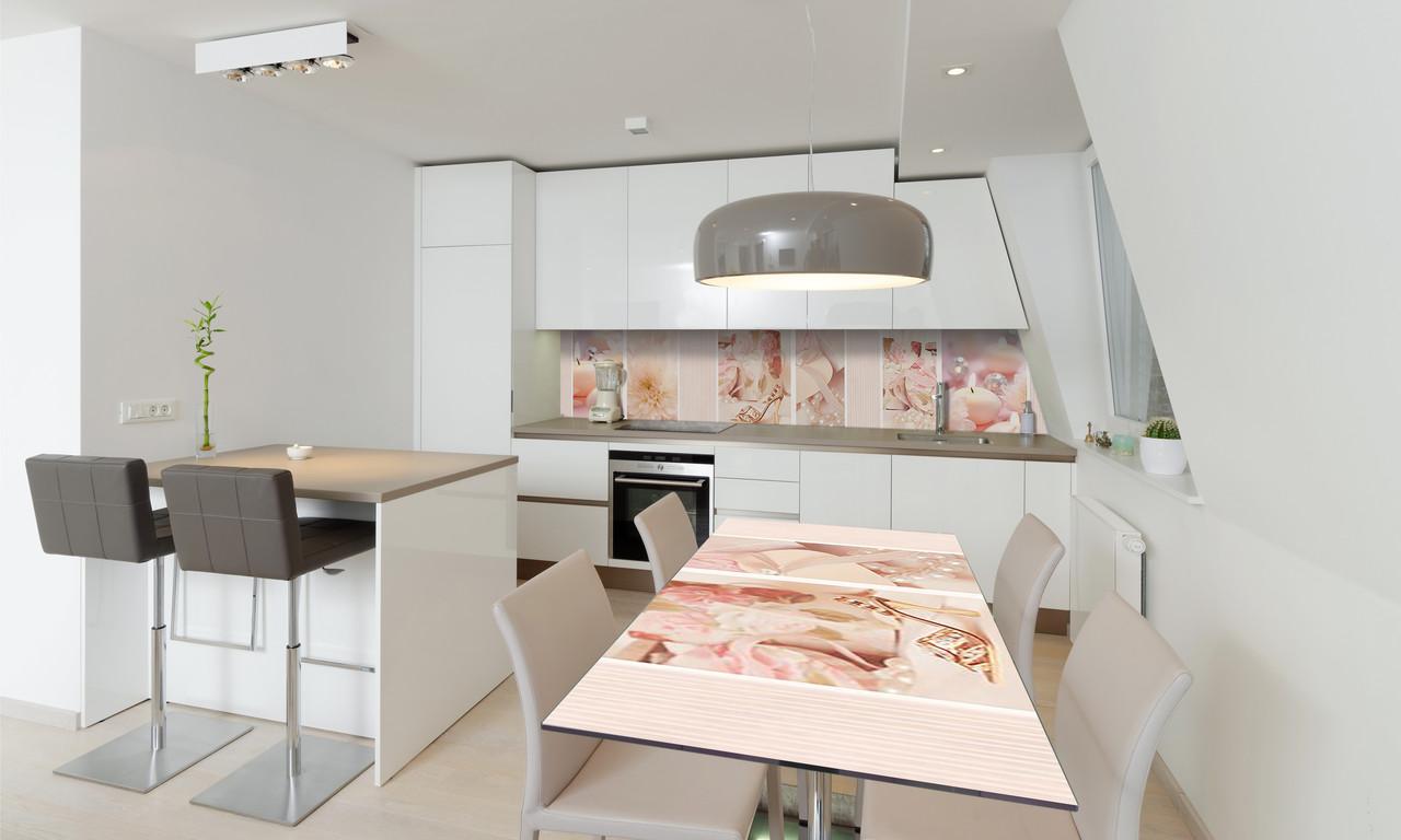 Наклейка 3Д виниловая на стол Zatarga «Золушка» 600х1200 мм для домов, квартир, столов, кофейн, кафе