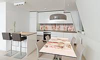 Наклейка 3Д виниловая на стол Zatarga «Золушка» 600х1200 мм для домов, квартир, столов, кофейн, кафе, фото 1