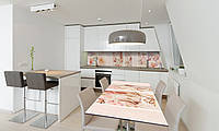 Наклейка 3Д виниловая на стол Zatarga «Золушка» 650х1200 мм для домов, квартир, столов, кофейн, кафе, фото 1