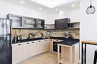 Скинали на кухню Zatarga «Винтажная архитектура» 600х2500 мм виниловая 3Д наклейка кухонный фартук, фото 1