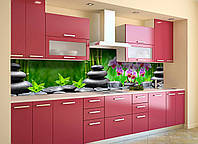 Скинали на кухню Zatarga «Тайский Релакс» 600х3000 мм виниловая 3Д наклейка кухонный фартук самоклеящаяся, фото 1