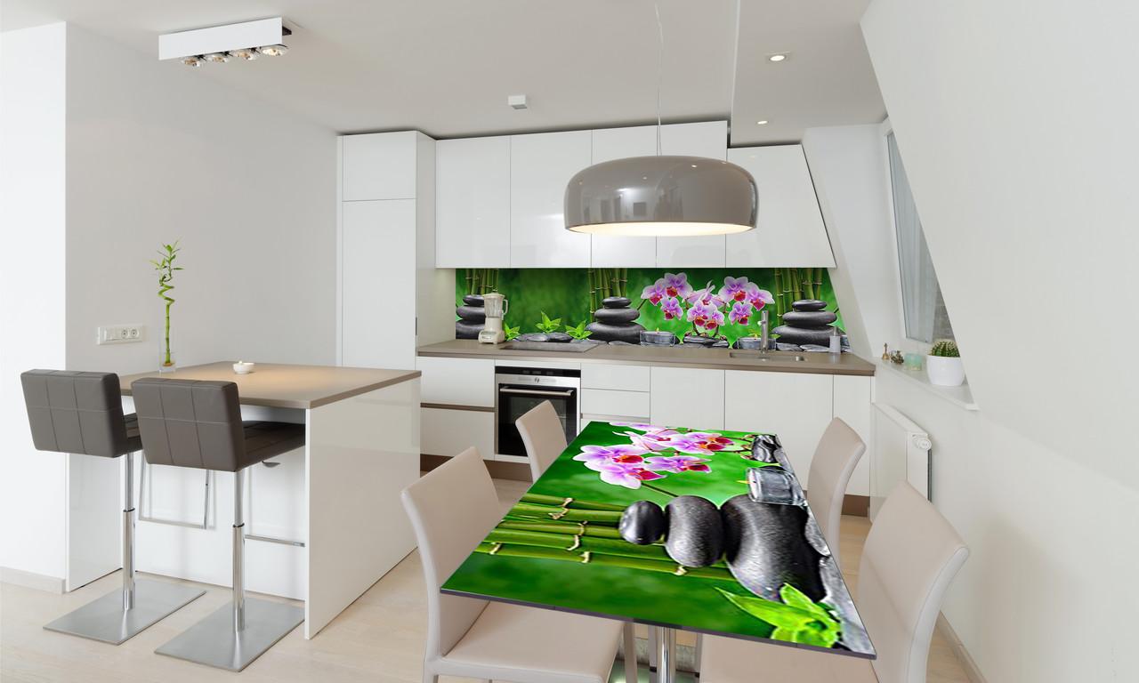 Наклейка 3Д виниловая на стол Zatarga «Тайский Релакс» 650х1200 мм для домов, квартир, столов, кофейн,
