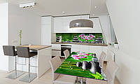 Наклейка 3Д виниловая на стол Zatarga «Тайский Релакс» 650х1200 мм для домов, квартир, столов, кофейн,, фото 1